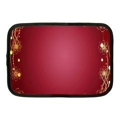Red Background With A Pattern Netbook Case (Medium)