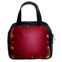 Red Background With A Pattern Classic Handbags (2 Sides)