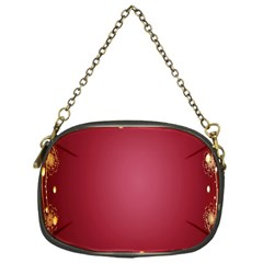 Red Background With A Pattern Chain Purses (one Side)