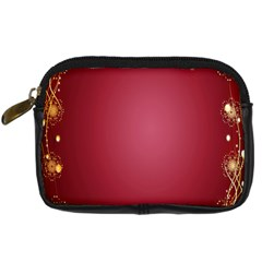 Red Background With A Pattern Digital Camera Cases