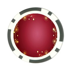 Red Background With A Pattern Poker Chip Card Guard (10 pack)