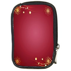 Red Background With A Pattern Compact Camera Cases