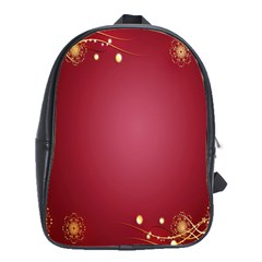 Red Background With A Pattern School Bags(large)