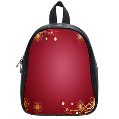 Red Background With A Pattern School Bags (small)