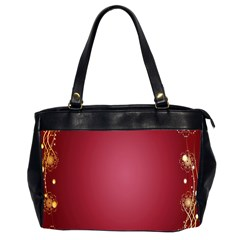 Red Background With A Pattern Office Handbags (2 Sides)