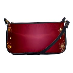 Red Background With A Pattern Shoulder Clutch Bags