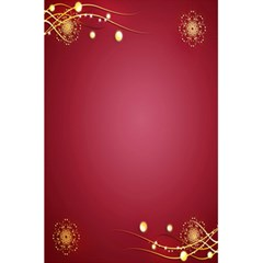 Red Background With A Pattern 5 5  X 8 5  Notebooks