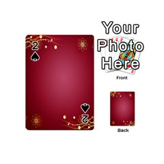 Red Background With A Pattern Playing Cards 54 (mini)