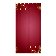 Red Background With A Pattern Shower Curtain 36  X 72  (stall)