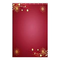 Red Background With A Pattern Shower Curtain 48  X 72  (small)