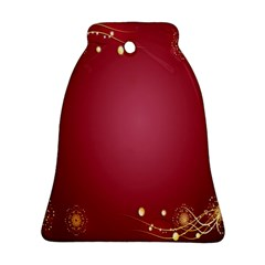 Red Background With A Pattern Bell Ornament (two Sides)