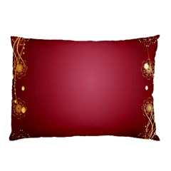 Red Background With A Pattern Pillow Case (two Sides)