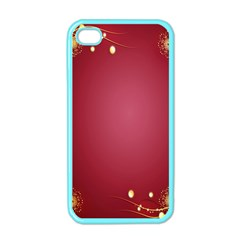 Red Background With A Pattern Apple Iphone 4 Case (color)