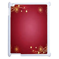 Red Background With A Pattern Apple Ipad 2 Case (white)