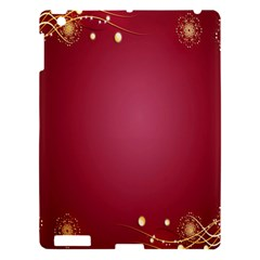 Red Background With A Pattern Apple iPad 3/4 Hardshell Case