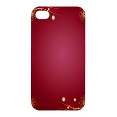 Red Background With A Pattern Apple Iphone 4/4s Premium Hardshell Case