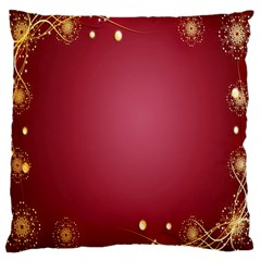 Red Background With A Pattern Large Cushion Case (two Sides)