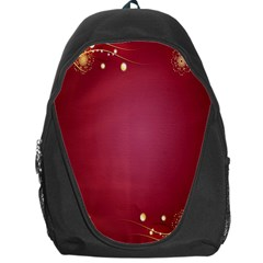 Red Background With A Pattern Backpack Bag