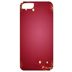 Red Background With A Pattern Apple Iphone 5 Classic Hardshell Case