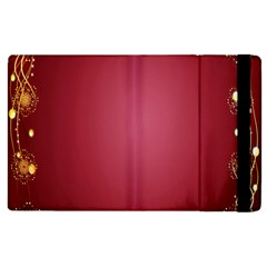 Red Background With A Pattern Apple Ipad 2 Flip Case