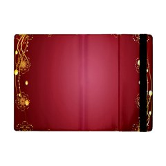 Red Background With A Pattern Apple Ipad Mini Flip Case