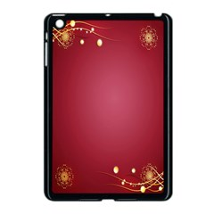 Red Background With A Pattern Apple Ipad Mini Case (black)