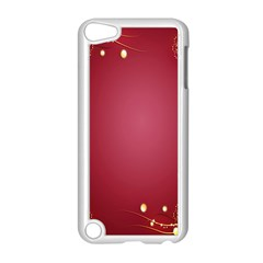 Red Background With A Pattern Apple Ipod Touch 5 Case (white)