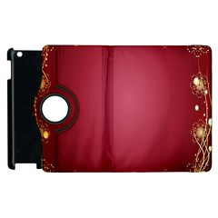 Red Background With A Pattern Apple Ipad 2 Flip 360 Case