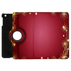 Red Background With A Pattern Apple Ipad Mini Flip 360 Case