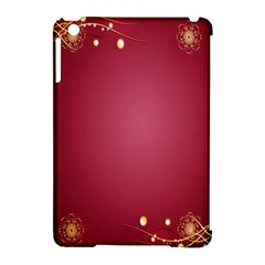 Red Background With A Pattern Apple Ipad Mini Hardshell Case (compatible With Smart Cover)