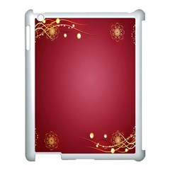 Red Background With A Pattern Apple iPad 3/4 Case (White)
