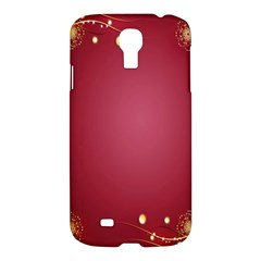 Red Background With A Pattern Samsung Galaxy S4 I9500/i9505 Hardshell Case