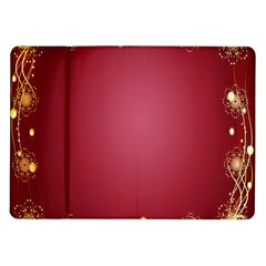 Red Background With A Pattern Samsung Galaxy Tab 10 1  P7500 Flip Case