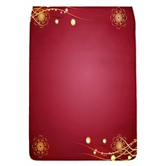 Red Background With A Pattern Flap Covers (s)