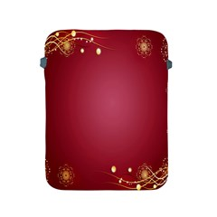 Red Background With A Pattern Apple Ipad 2/3/4 Protective Soft Cases