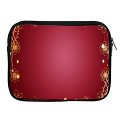 Red Background With A Pattern Apple Ipad 2/3/4 Zipper Cases