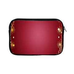 Red Background With A Pattern Apple Ipad Mini Zipper Cases
