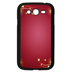 Red Background With A Pattern Samsung Galaxy Grand Duos I9082 Case (black)