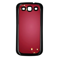 Red Background With A Pattern Samsung Galaxy S3 Back Case (black)