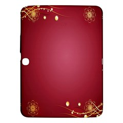 Red Background With A Pattern Samsung Galaxy Tab 3 (10 1 ) P5200 Hardshell Case
