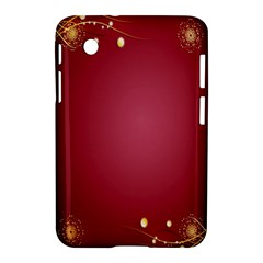 Red Background With A Pattern Samsung Galaxy Tab 2 (7 ) P3100 Hardshell Case