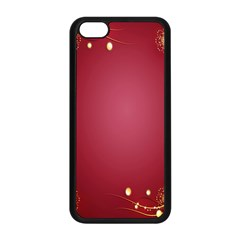 Red Background With A Pattern Apple Iphone 5c Seamless Case (black)