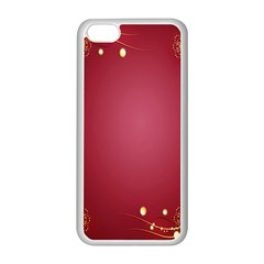 Red Background With A Pattern Apple Iphone 5c Seamless Case (white)