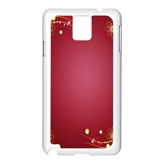 Red Background With A Pattern Samsung Galaxy Note 3 N9005 Case (white)