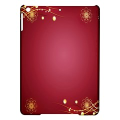 Red Background With A Pattern Ipad Air Hardshell Cases