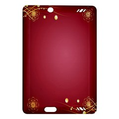 Red Background With A Pattern Amazon Kindle Fire Hd (2013) Hardshell Case