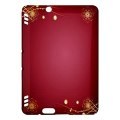 Red Background With A Pattern Kindle Fire Hdx Hardshell Case