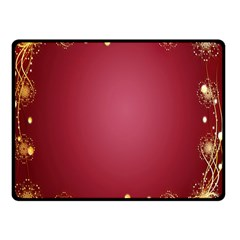 Red Background With A Pattern Double Sided Fleece Blanket (small)