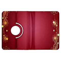 Red Background With A Pattern Kindle Fire Hdx Flip 360 Case
