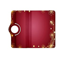 Red Background With A Pattern Kindle Fire Hdx 8 9  Flip 360 Case